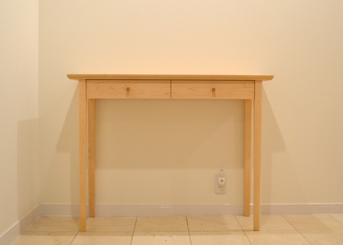 console table maple entrance