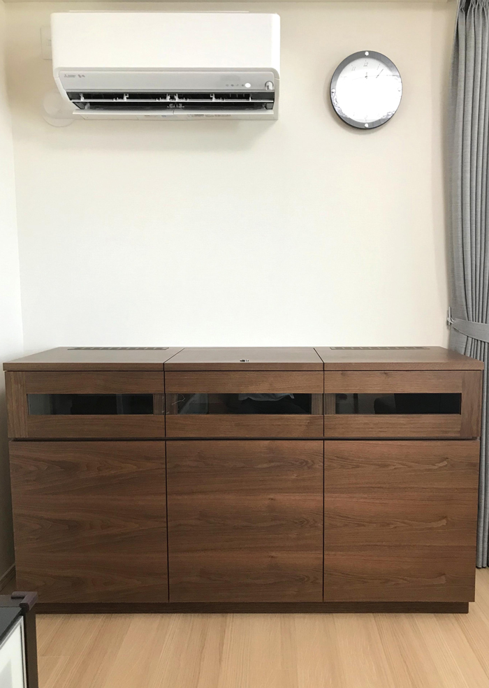 sideboard walnut recordplayerstorage