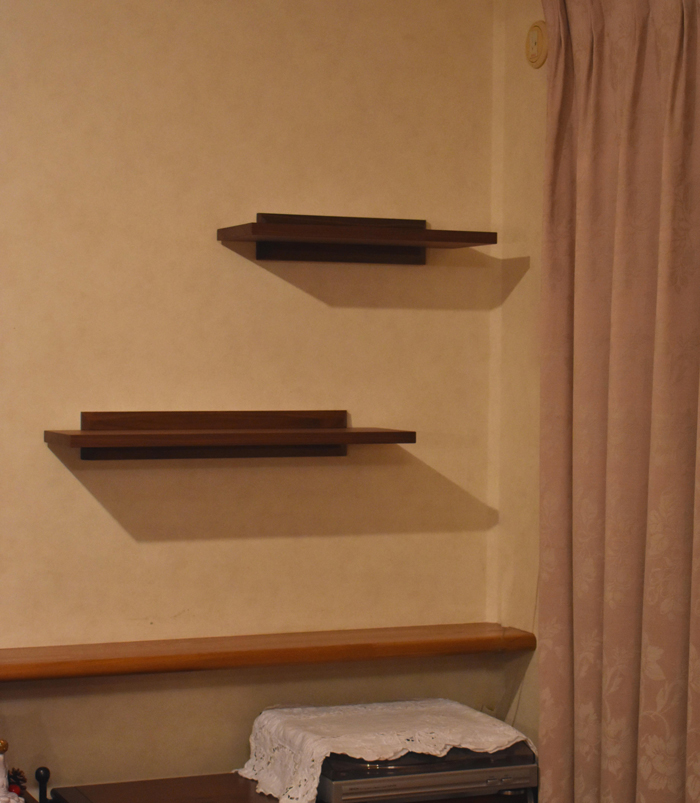 wallshelf walnut