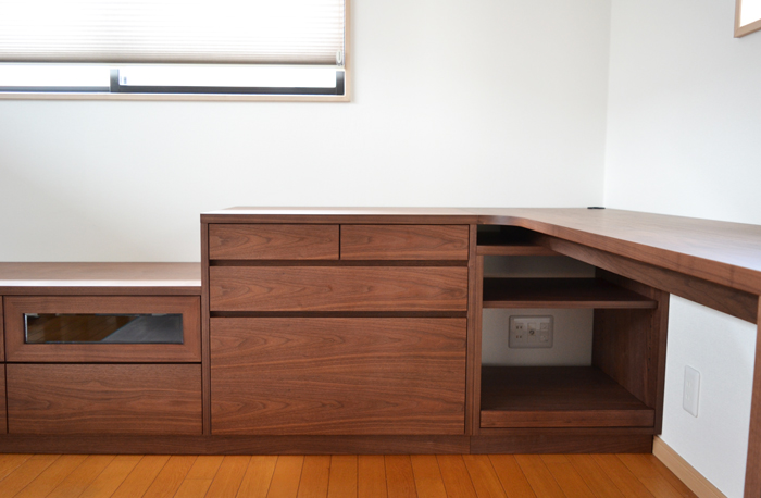 desk storage walnut