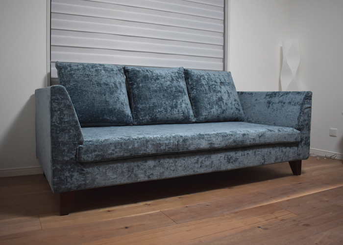 sofa fabric covering walnut blue SHAPE 2P