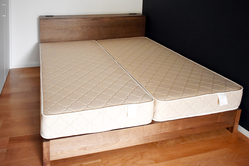 bed walnut kingsize