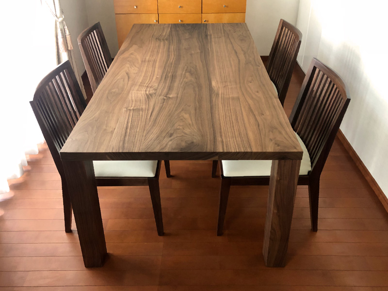 bliss dining table walnut 2031 chair