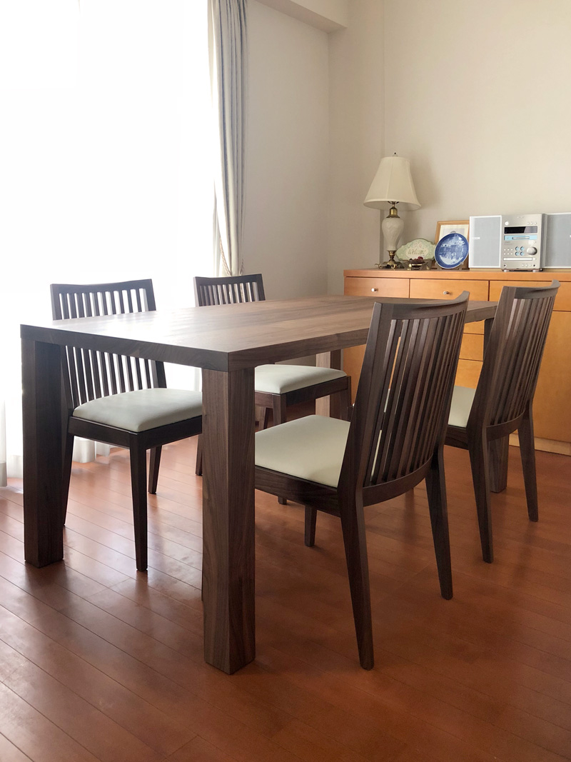 bliss dining table walnut 3021 chair