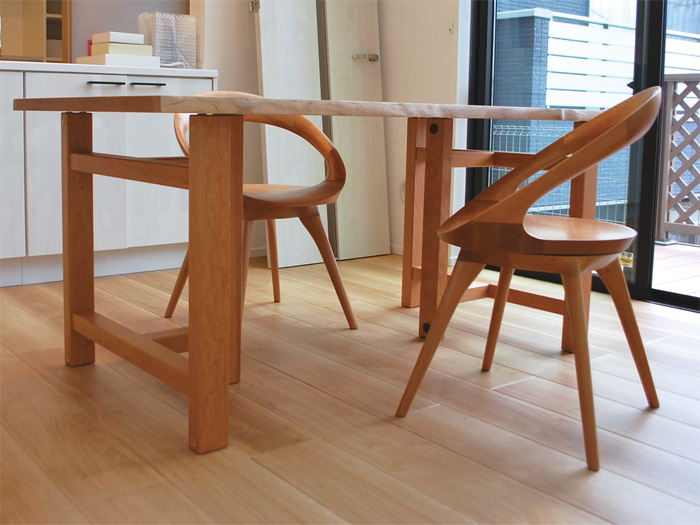 solidwood dining table tradition anellochair cherry tleg