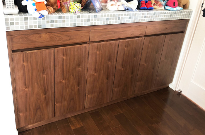 sideboard counter walnut