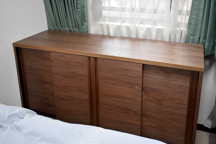 sideboard walnut bedroom 引戸