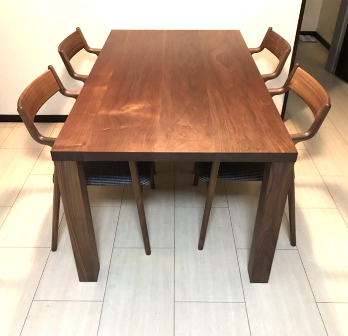 diningtable BLISS Table chair PePe Chair walnut