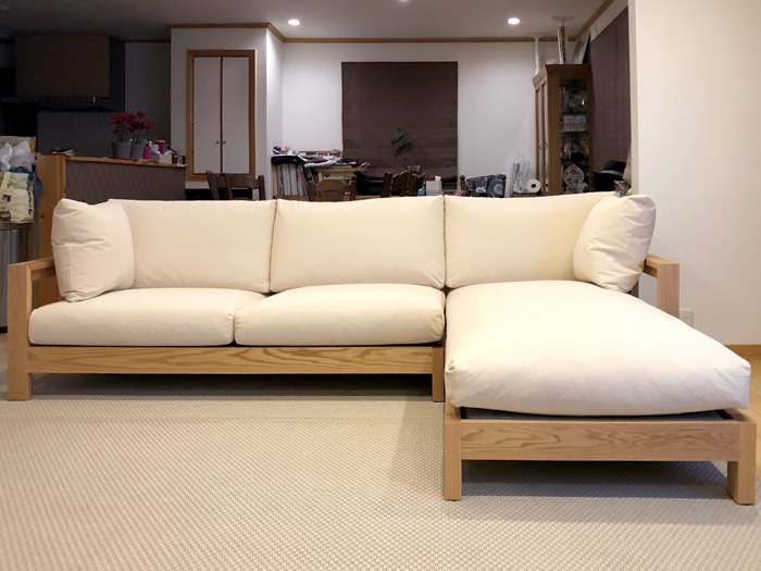 sofa-wave couch-sofa ordermade oak aquaclean living dining front