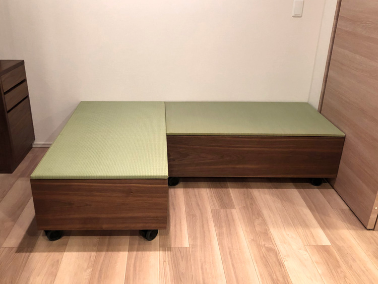 wagon walnut tatami order bed