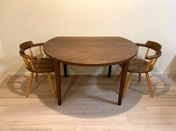 walnut roudn diningtable