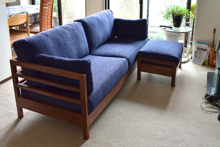 sofa lattice walnut order living