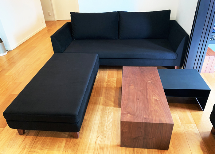 sofa walnut