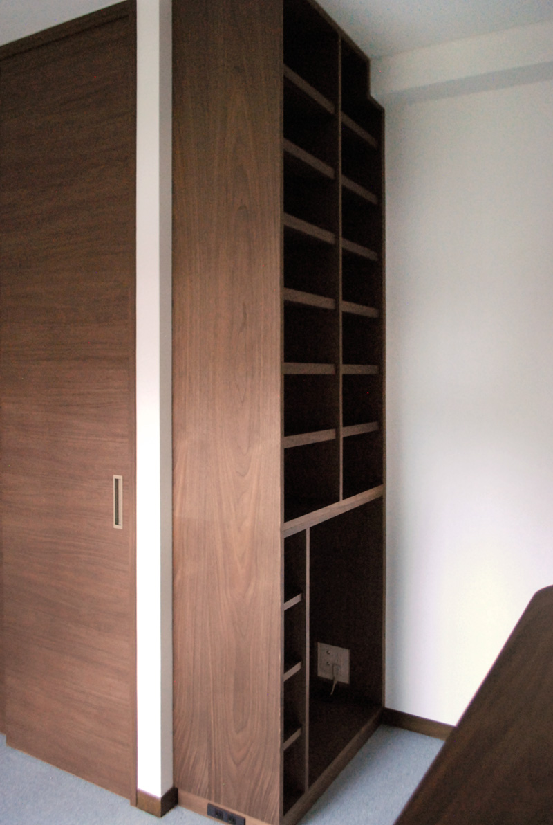 bedroom reform wallstrage bookboard  walnut