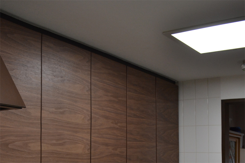 kitchen walnut door reform wall light